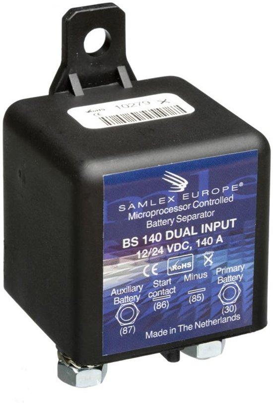Samlex Accuscheider BS 140 DUAL 12 of 24 VDC input 140Amp