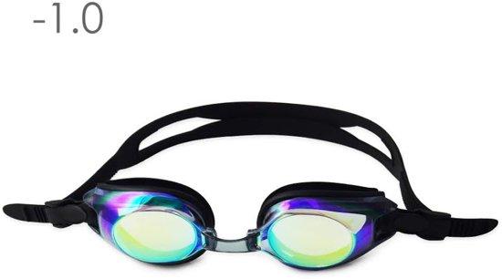 Zwembril op sterkte -1.0 (mirror)