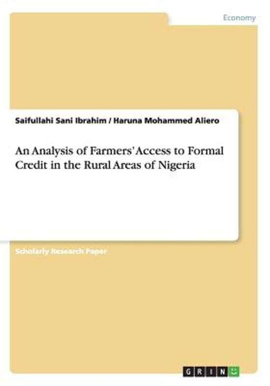 an analysis of farmers