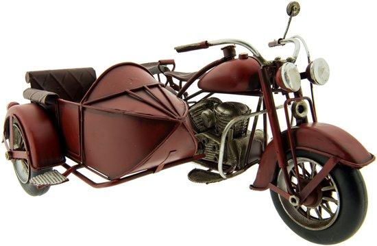 Clayre & Eef Model motor met zijspan 27x20x14 cm