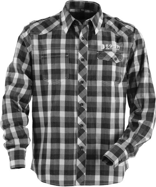 Overhemd Zwart Wit.Bol Com Heren Blouse Overhemden Lange Mouw Zwart Wit Maat L