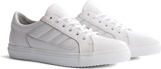 4b4d57759b4969 Travelin Nice Leather Low - Casual dames sneakers - Wit leer - Maat 41