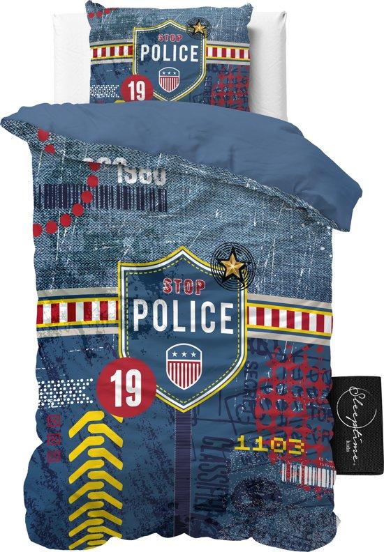 ST4KIDS Politie Agent - Dekbedovertrek - Eenpersoons - 140x200 + 1 kussensloop 60x70 - Blauw