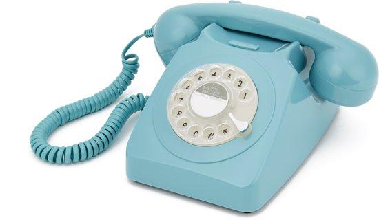 GPO 746ROTARYBLU Telefoon met draaischijf klassiek jaren '70 ontwerp