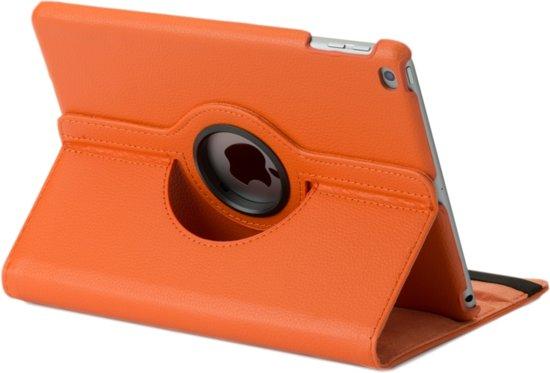 iPad Air 2 hoes oranje met verstevigde rug en sterke magneet voor sleep en wakeup functie. in Looneind