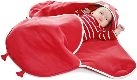 Wallaboo Babydeken Coco Handige wikkeldeken en wrapper 100% zacht katoen pasgeboren tot 9 maanden Geschikt voor autostoel, kinderwagen, box,