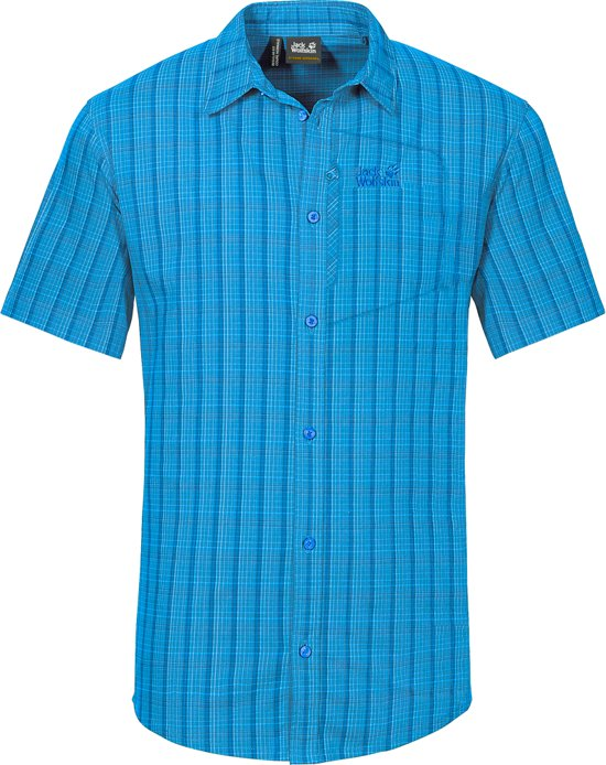 Vent Wolfskin Checks Blue M d Rays Stretch Jack Ocean Shirt qB4RtRga