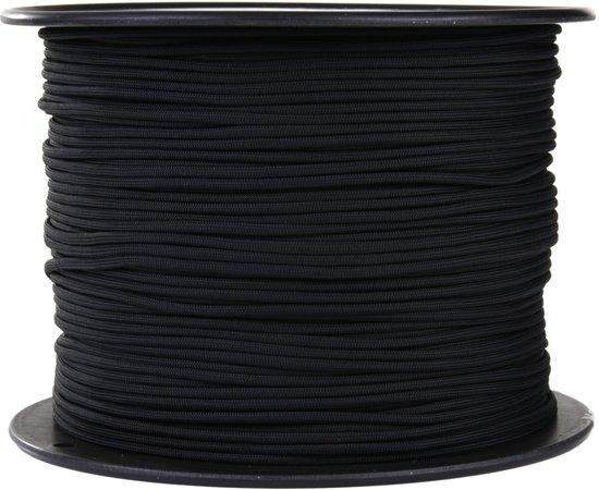 101inc Paracord op rol 7 strings 300mtr zwart