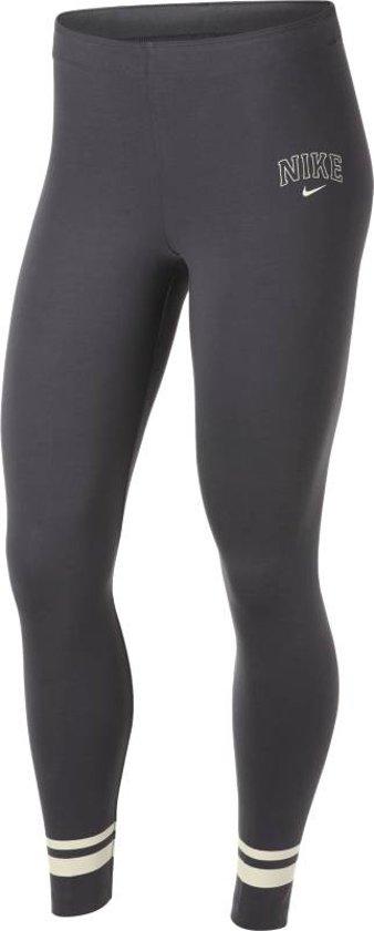 Nike Nsw Legging Varsity Sportlegging Dames - Dk Grey Heather/Blue Void/(Sai