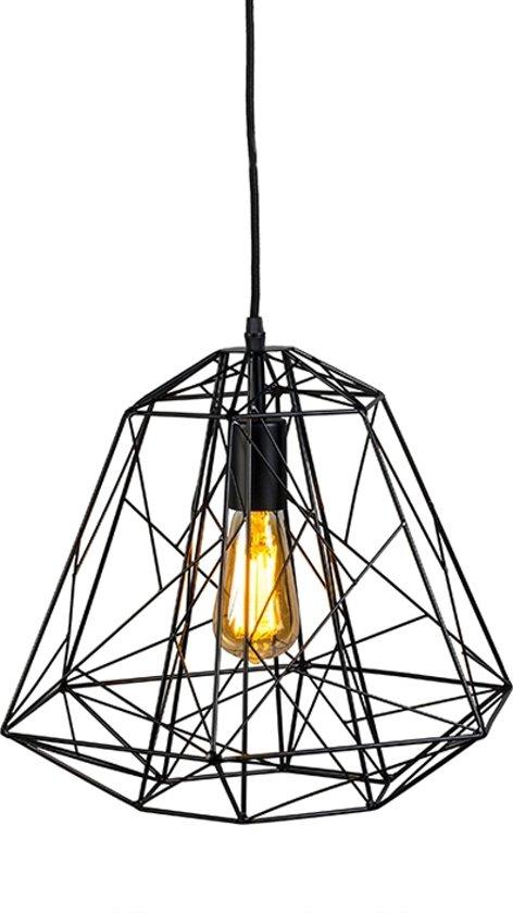 QAZQA framework - Hanglamp - 1 lichts - Ø 400 mm - Zwart