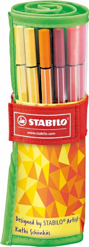 STABILO Pen 68 Rollerset Fan Edition - Groen
