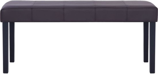 vidaXL Bankje 106 cm kunstleer bruin