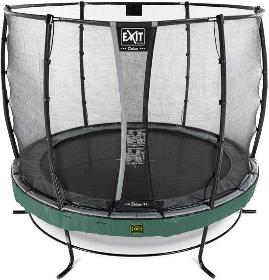 EXIT Elegant Premium trampoline ø253cm met veiligheidsnet Deluxe - groen