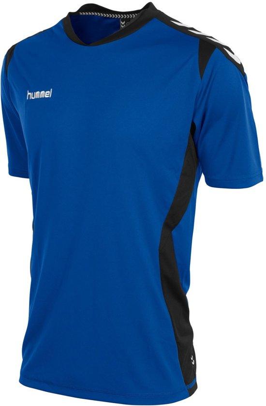 hummel Paris T-Shirt Junior Sportshirt - Kobalt/Black - Maat 164