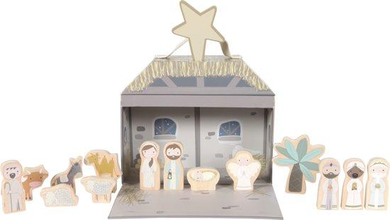 Afbeelding van Little Dutch Speelkoffer Kerst speelgoed