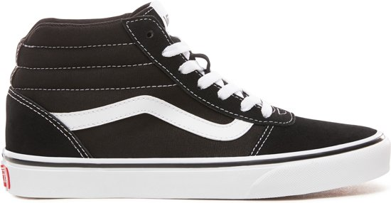 Vans Wm Ward Hi Dames Sneakers - (Suede/Canvas)Black/White - Maat 39