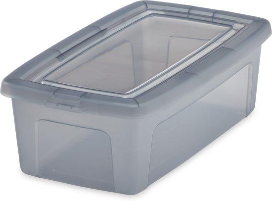 83991efcaa6 bol.com | IRIS Clearbox Opbergbox - 5L - Kunststof - Transparant grijs - 3  stuks