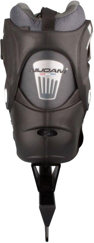 Nijdam 3419 Pro-line Norenschaats - Semi-Softboot - Zwart/Grijs - Maat 41