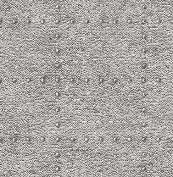 Restored Hammered Metal Zilver Behang Vliesbehang Zilver