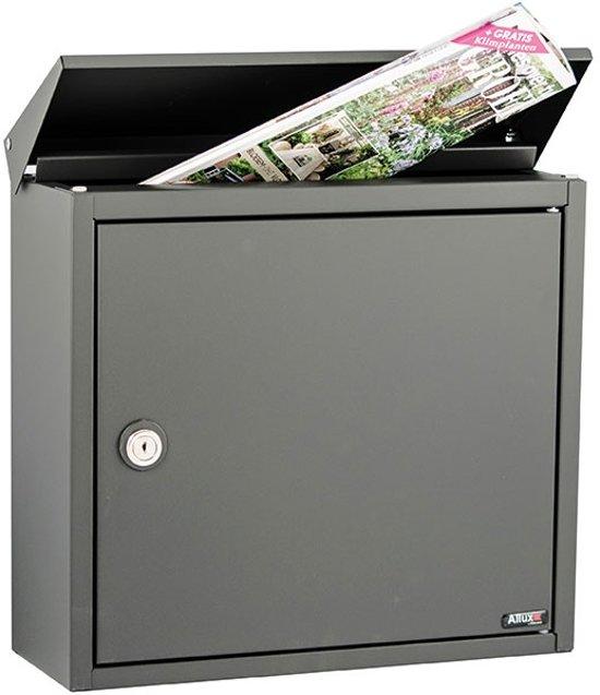 brievenbus allux 400 antraciet grijs