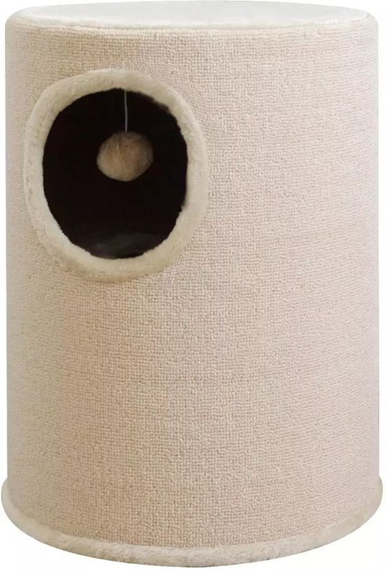 vidaXL Kattenhuis/krabpaal beige 50 cm