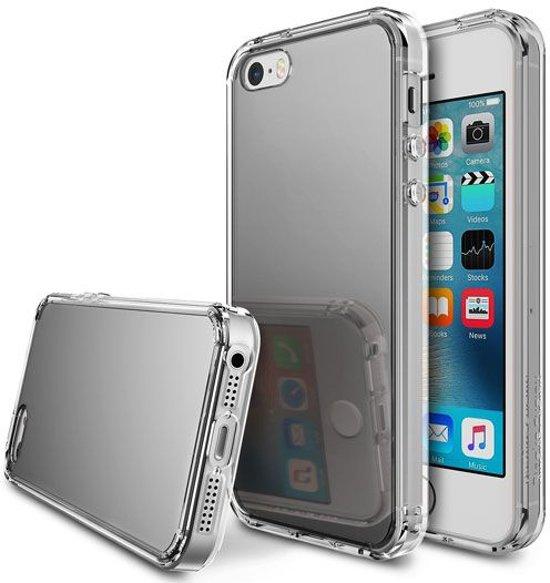 Ringke Fusion Mirror Apple iPhone SE spiegel hoesje Silver in Saint-Aubin