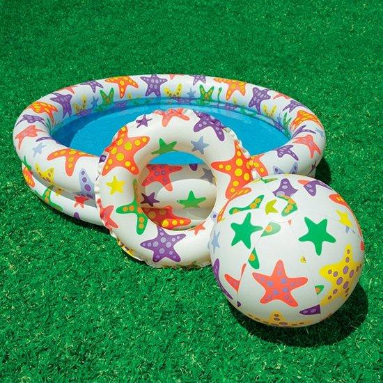 Opblaaszwembad met sterrenprint