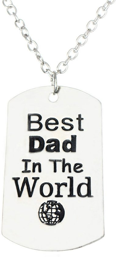 Stoere Vader Ketting Best Dad Of The World Vaderdag Cadeau Cadeau Papa