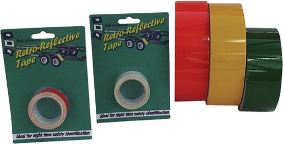 Reflecterend tape rood 50mm 2.5mtr
