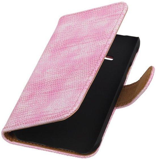 MP Case Roze glamour bookstyle Samsung Galaxy J1 ACE wallet case hoesje in Waanskinderen