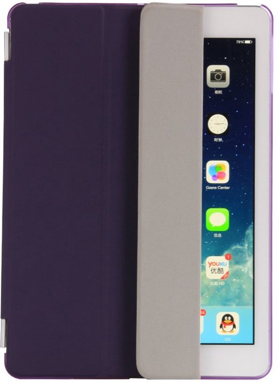 Shop4 - iPad 9.7 (2017) Hoes - Smart Cover Companion Case Paars in Biesme