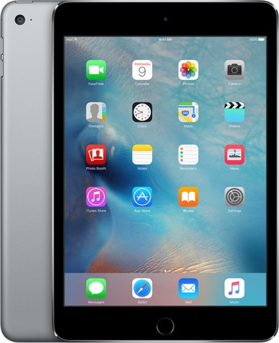 Apple iPad Mini 4 - 128GB -WiFi + Cellular (4G) - Spacegrijs/Grijs in Wolfswinkel
