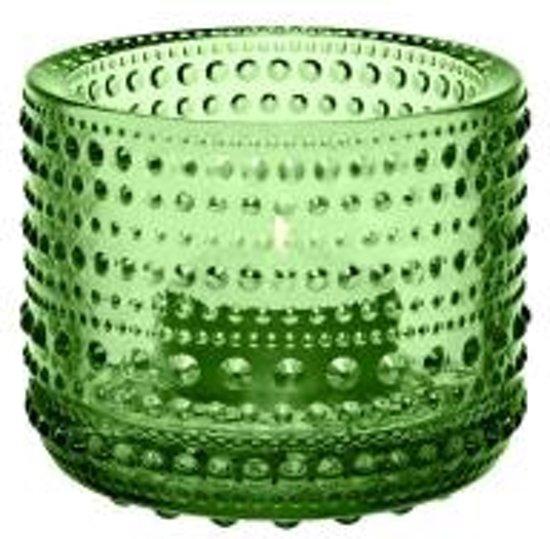 Iittala Kastehelmi - Waxinelichtjeshouder - Sfeerlicht - h 6.4 cm - Groen