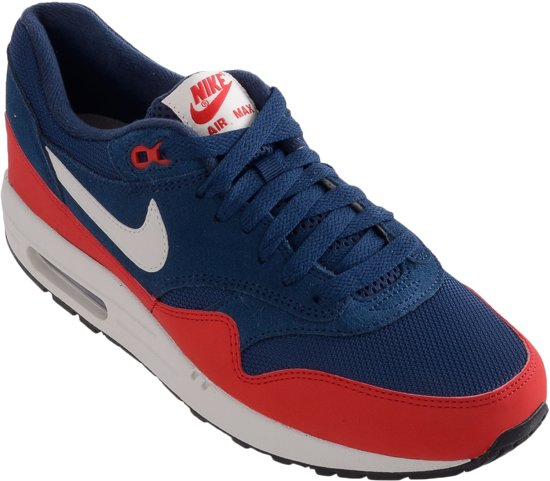 nike air max 1 heren donkerblauw rood