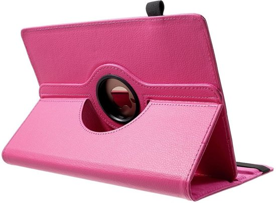 Shop4 - HP Pro Slate 8 Tablet Hoes - Rotatie Cover Lychee Roze in Gassel