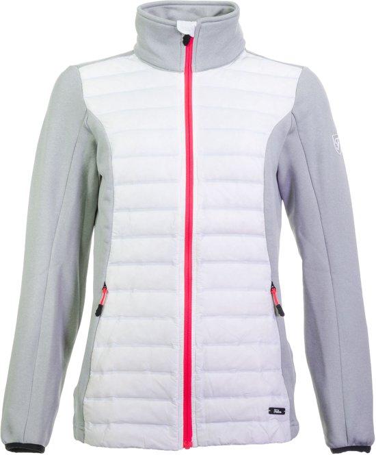 Falcon Tirzah Fullzip Jas Dames Sportjas - Maat M  - Vrouwen - wit/grijs/roze