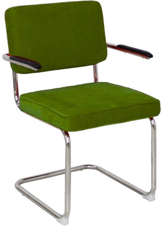 Bauhaus Look Stoelen.Bol Com Rib Stoel Groen Met Arm