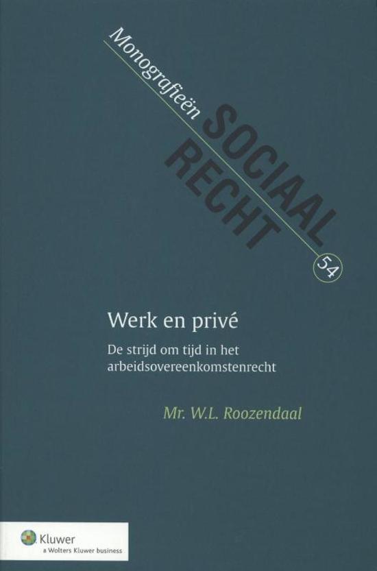 Boek cover Werk en privé van W.L. Roozendaal (Onbekend)