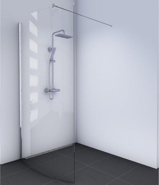 Glas Voor Inloopdouche.Amsterdam Inloopdouche Gebogen 100x200cm Chroom Profiel En Helder Glas