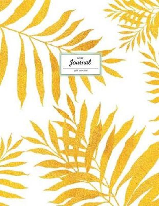 Lined Journal - Gold Palm Leaf