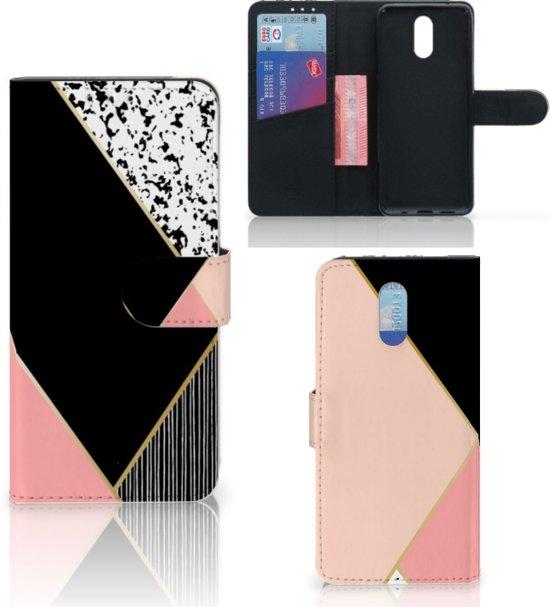 Bookcase Nokia 2.3 Zwart Roze Vormen