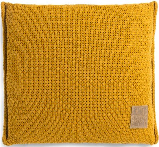 Knit Factory Jesse Kussen - Oker 50 x 50 cm