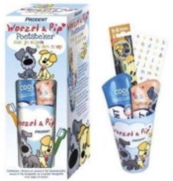 Afbeelding van het spel Woezel en Pip poetsbeker met je eigen naam erop