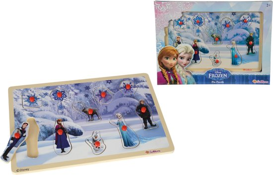 Studio 100 Kleurplaten Frozen.Bol Com Frozen Houten Legpuzzel 30x20cm Eichhorn Speelgoed
