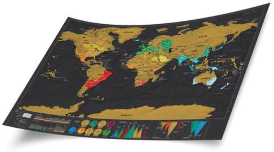 Doralou - Scratchmap - wereldkaart deluxe 60 cm x 83 cm