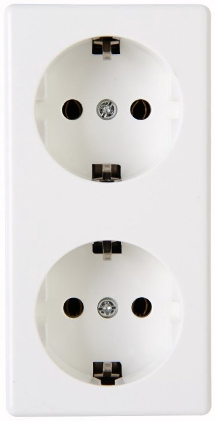KOPP stopcontact dubbel randaarde Opbouw wit