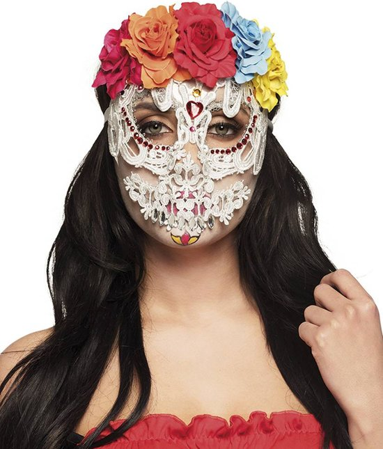 Bolcom Halloween Masker Catrina Deluxe Half Partywinkel Speelgoed