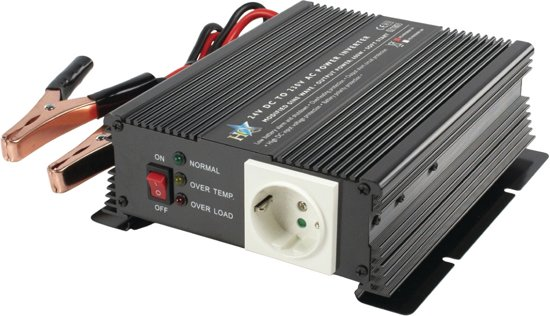 Power Inverter Modified Sine Wave 24 VDC - AC 230 V 600 W French