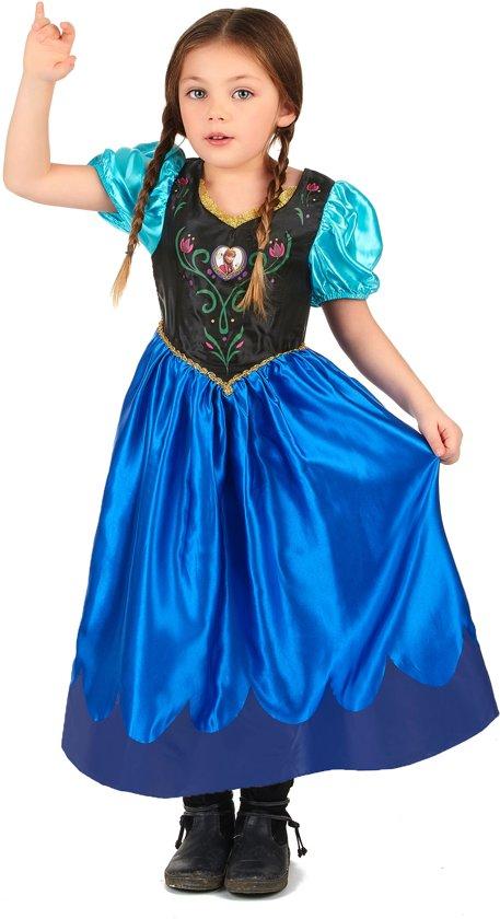 eefe41765fff2b Disney Frozen Jurk - Prinses Anna - Kinderkostuum - Maat 122 128