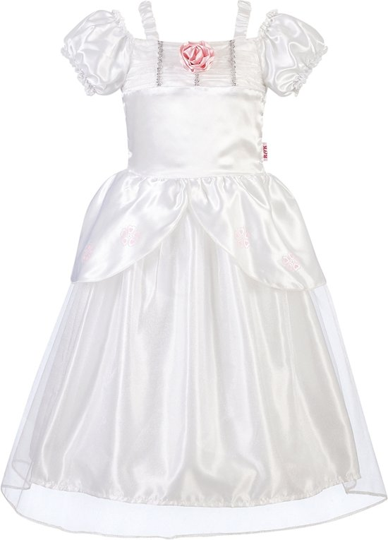 Prinses kleedje wit bruidsjurk  (5-7 jaar) 110-116-122